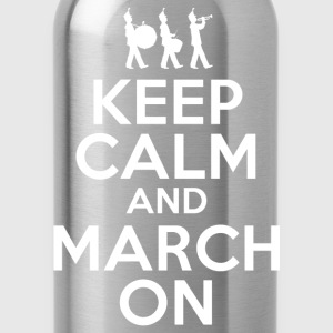 Keep Calm March On T-Shirts - Water Bottle