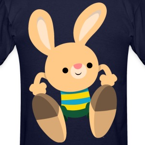 Cute Leaping Cartoon Rabbit by Cheerful Madness!! Hoodies - Men's T-Shirt