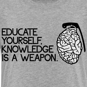 Knowledge is a weapon Kids' Shirts - Toddler Premium T-Shirt