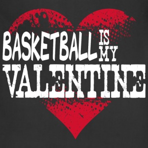 Basketball Is My Valentine Long Sleeve Shirts - Adjustable Apron