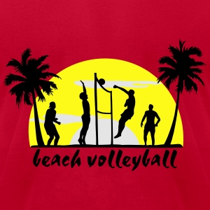 beach volleyball Long Sleeve Shirts - Men's T-Shirt by American Apparel