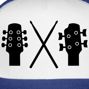 Guitar, Bass and Drums Polo Shirts - Trucker Cap