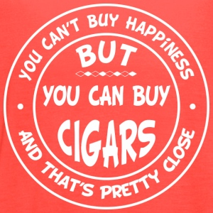 You Can't Buy Happiness, But You Can Buy Cigars! T-Shirts - Women's Flowy Tank Top by Bella
