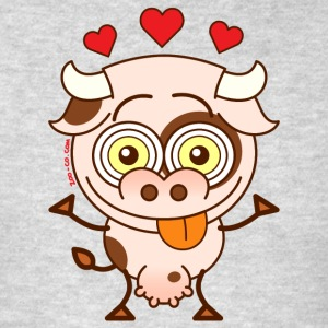 Cute cow falling madly in love Long Sleeve Shirts - Men's T-Shirt