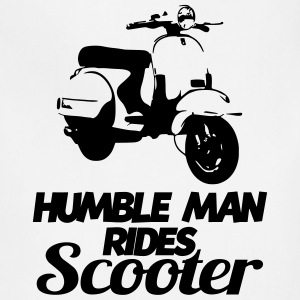 humble man rides scooter T-Shirts - Adjustable Apron