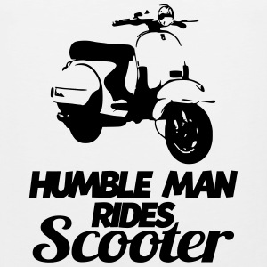 humble man rides scooter T-Shirts - Men's Premium Tank