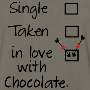 in love with chocolate Women's Premium T-Shirt - Men's Premium Long Sleeve T-Shirt