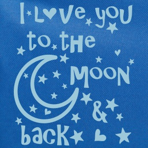 I love you to the moon and back Women's T-Shirt - Computer Backpack
