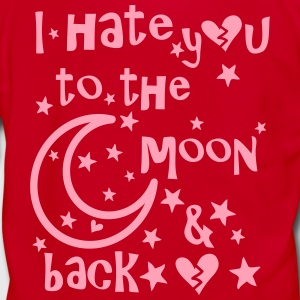 I hate you to the moon and back Women's T-Shirt - Unisex Fleece Zip Hoodie by American Apparel