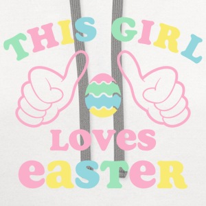 This Girl Loves Easter Kids' Shirts - Contrast Hoodie