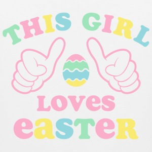 This Girl Loves Easter Kids' Shirts - Men's Premium Tank