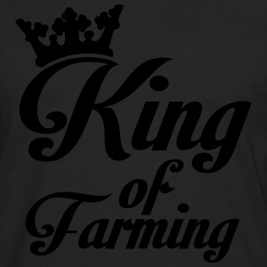 King of Farming Polo Shirts - Men's Premium Long Sleeve T-Shirt