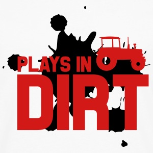 Plays in dirt Tanks - Men's Premium Long Sleeve T-Shirt