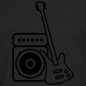 Bass guitar with amp Polo Shirts - Men's Premium Long Sleeve T-Shirt