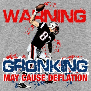 Warning Gronking May Cause Deflation Sweatshirts - Toddler Premium T-Shirt