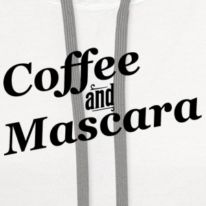Coffee and Mascara Women's T-Shirts - Contrast Hoodie