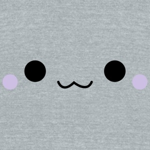Cute emoticon face Caps - Unisex Tri-Blend T-Shirt by American Apparel