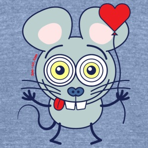 Little mouse falling madly in love Long Sleeve Shirts - Unisex Tri-Blend T-Shirt by American Apparel