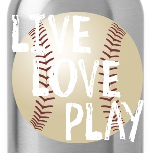 Live, Love, Play T-Shirts - Water Bottle
