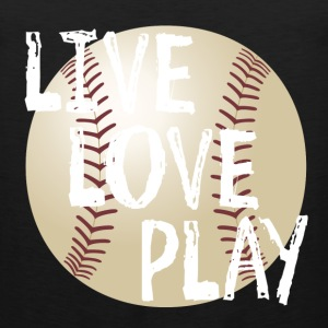 Live, Love, Play T-Shirts - Men's Premium Tank