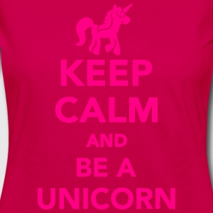 Keep calm and be a unicorn Kids' Shirts - Women's Premium Long Sleeve T-Shirt