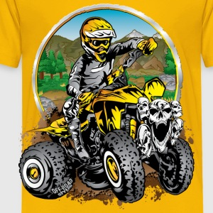 ATV Quad Cartoon Yellow Kids' Shirts - Toddler Premium T-Shirt