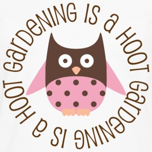 Gardening Womens T-shirt (Owl Is A Hoot) - Men's Premium Long Sleeve T-Shirt