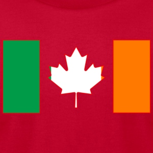 Irish Canadian Flag on Long Sleeve - Men's T-Shirt by American Apparel