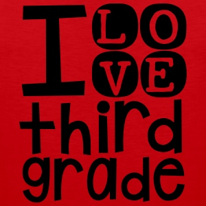 I Love 3rd Grade T Shirt - Men's Premium Tank