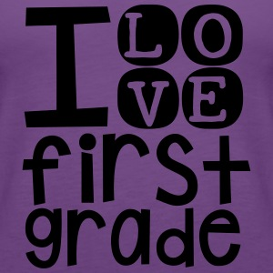 I Love 1st Grade - Women's Premium Tank Top