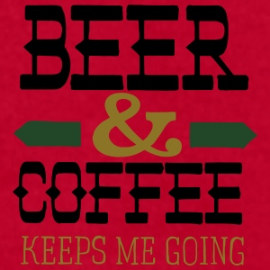 Beer And Coffee Keeps Me Going Mugs & Drinkware - Men's T-Shirt by American Apparel