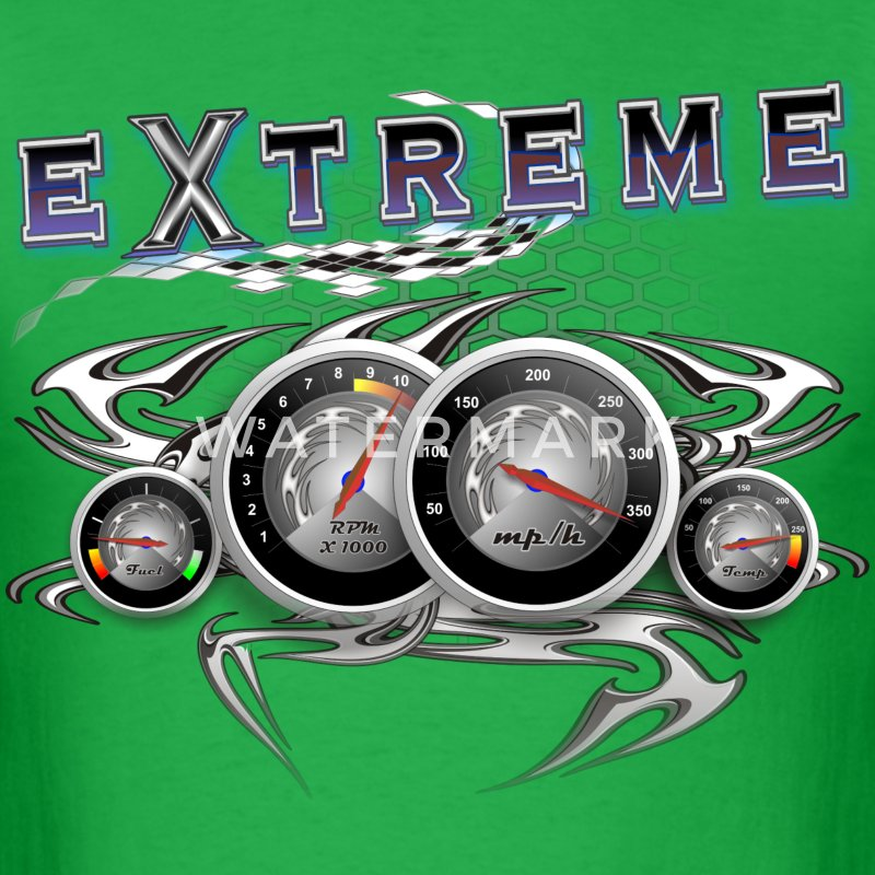 Extreme looking dashboard T-Shirts - Men's T-Shirt