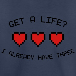 Get A Life 8-Bit Retro Gamer Hearts Kids' Shirts - Toddler Premium T-Shirt