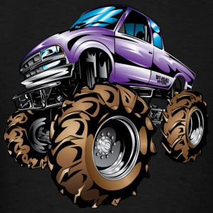 Purple Mud Truck Cartoon Hoodies - Men's T-Shirt
