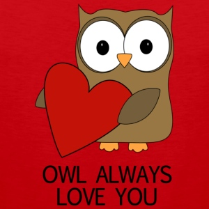OWL ALWAYS LOVE YOU T SHIRT - Men's Premium Tank
