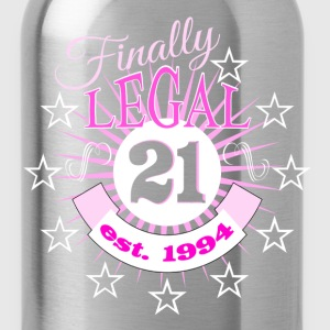 Finally Legal 21st Birthday Est 1994 T-Shirts - Water Bottle