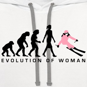 evolution_skifahrerin_012015_a_2c Women's T-Shirts - Contrast Hoodie