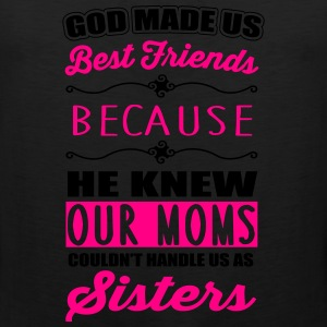 God made us best friends - BFF Kids' Shirts - Men's Premium Tank