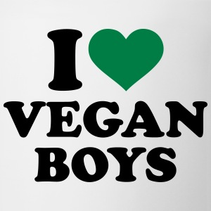 I love Vegan boys T-Shirts - Coffee/Tea Mug