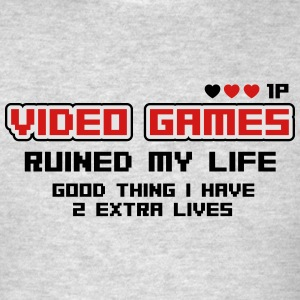Video games ruined my life Tank Tops - Men's T-Shirt