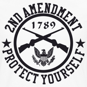 2ND Amendment Protect Yourself Black US Custom Ink T-Shirts - Men's Premium Long Sleeve T-Shirt