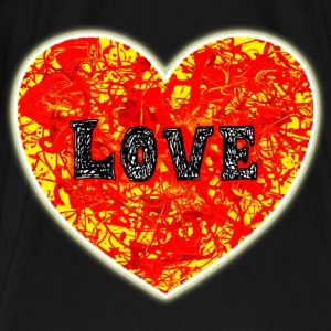 Big Lava Love Heart. - Men's Premium T-Shirt