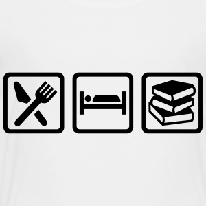 Eat Sleep read Kids' Shirts - Toddler Premium T-Shirt