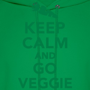 Keep calm and go Veggie T-Shirts - Men's Hoodie