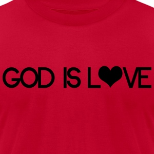 God is love Hoodies - Men's T-Shirt by American Apparel
