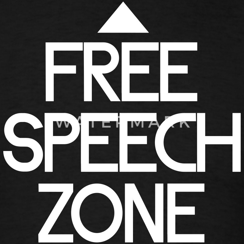 free speech zone T-Shirts - Men's T-Shirt