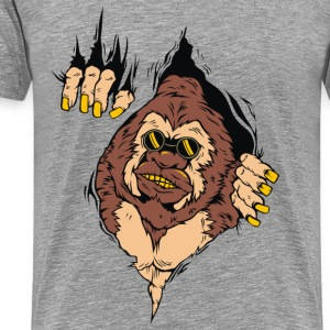 GORILLA CAME OUT FROM MEN SWEATSHIRT - Men's Premium T-Shirt