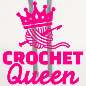Crochet Queen Women's T-Shirts - Contrast Hoodie