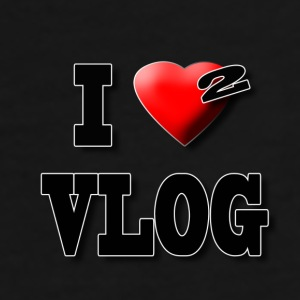 I Love 2 Vlog   - Men's Premium T-Shirt