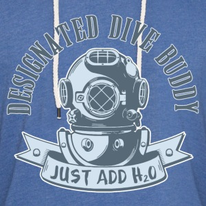 Designated Dive Buddy - Scuba Diving T-Shirts - Unisex Lightweight Terry Hoodie